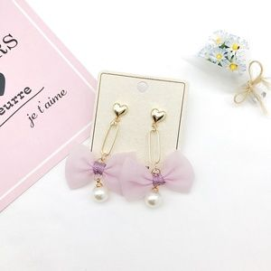 Moving Sale!! Pink Paper Clip Earrings